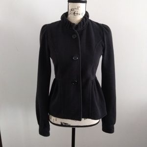 Express Sz Small Soft Black  Button Fitted  Jacket